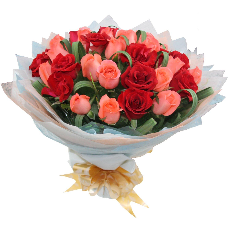 16枝粉玫瑰搭配17枝红玫瑰/甜蜜的爱恋