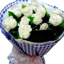 11朵精选白玫瑰/执着的爱