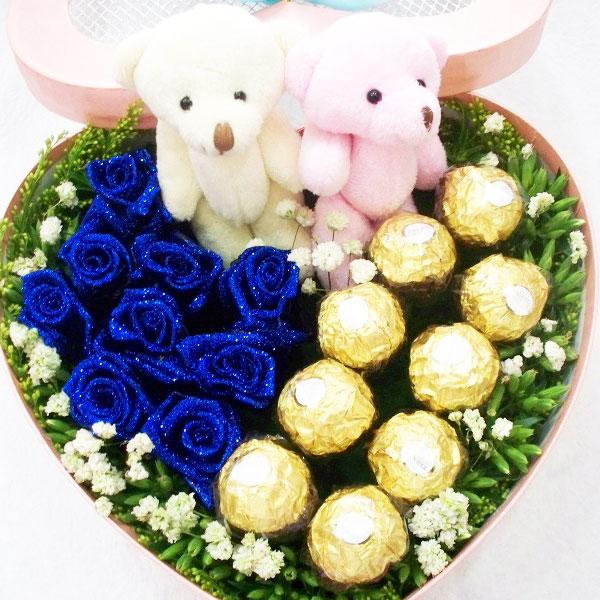 9朵顶级蓝色妖姬/梦幻家园
