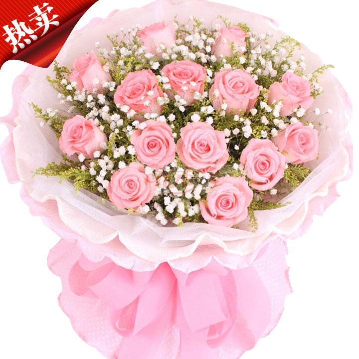 11枝戴安娜玫瑰/思美人