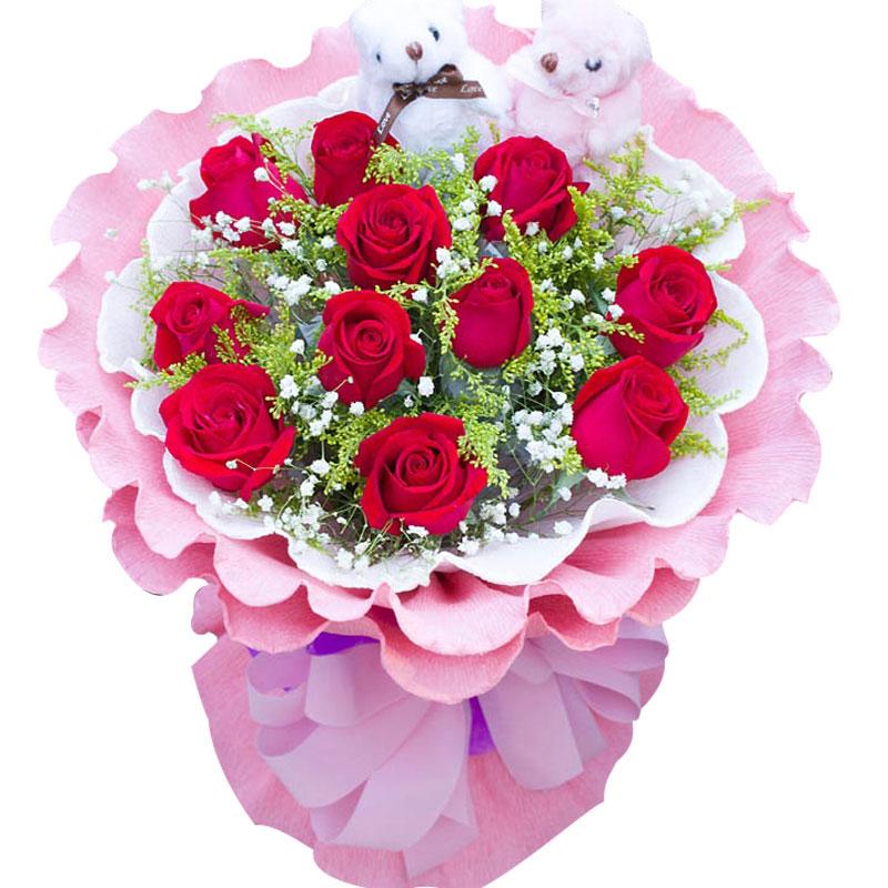 11枝红玫瑰/爱你到地老天荒
