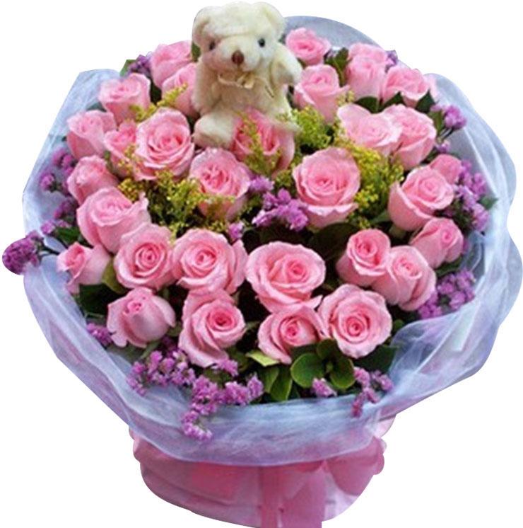 33枝戴安娜玫瑰/用真心爱你