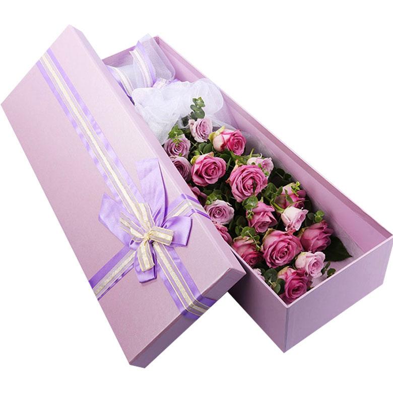 19枝顶级紫玫瑰/爱满满 (紫玫瑰 爱情 朋友 生日 友情 情人 七夕 圣诞)