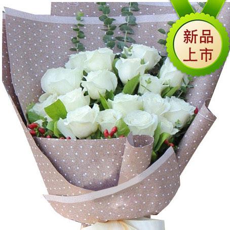 心挑选19朵白玫瑰/知心人