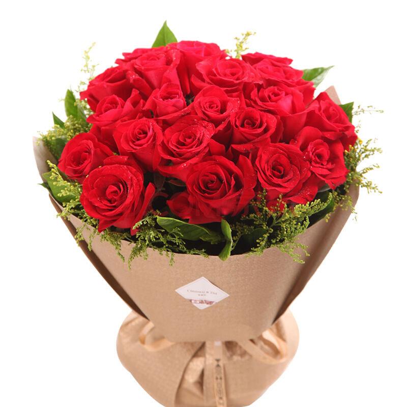 19朵极品红玫瑰/爱的沸点 (19 红玫瑰 爱情 友情 情人 七夕 父亲 母亲 生日 圣诞)