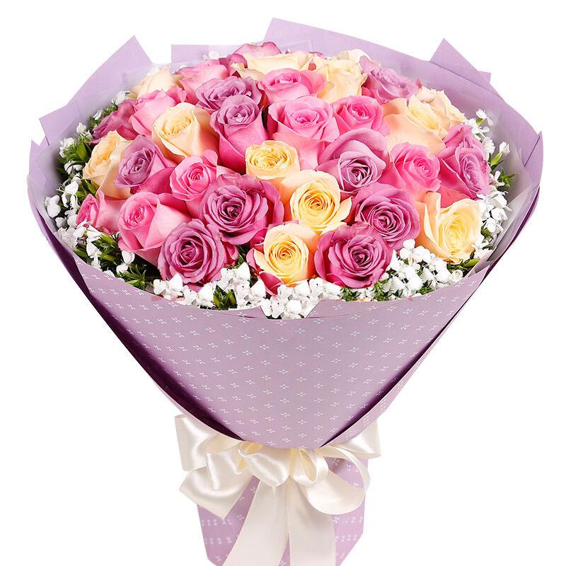33朵混搭玫瑰/花前月下