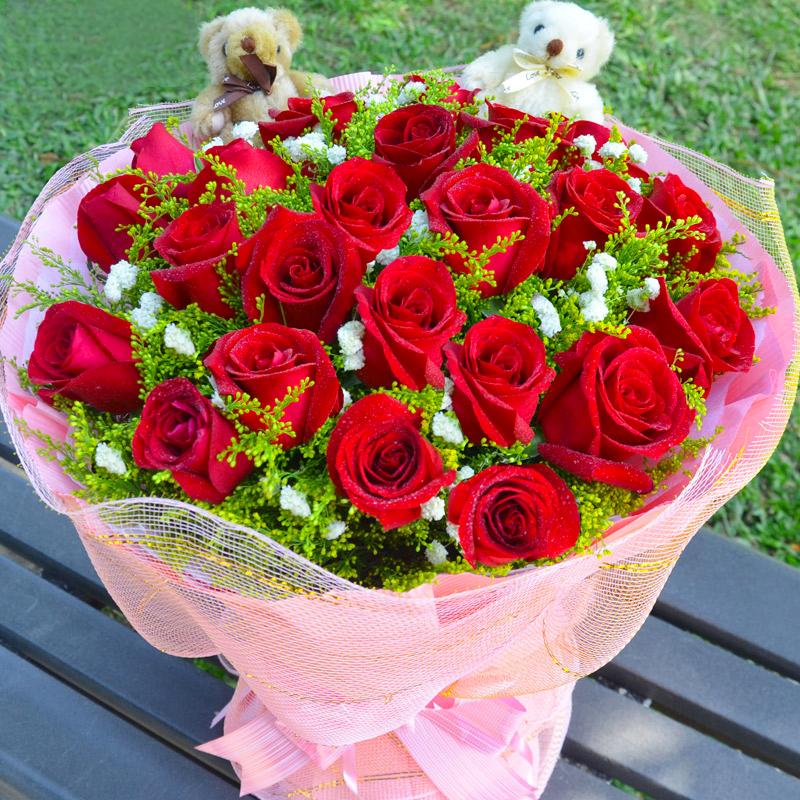 21枝玫瑰/爱来的刚好