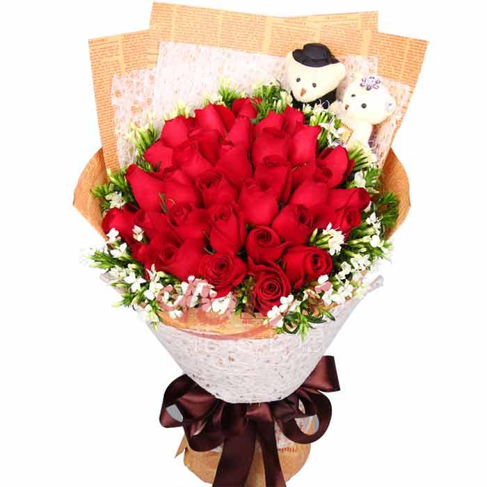 周口33枝玫瑰 周口33朵玫瑰花 周口33枝红玫瑰