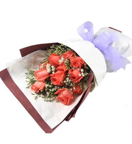 粉玫瑰11朵/幸福氧气