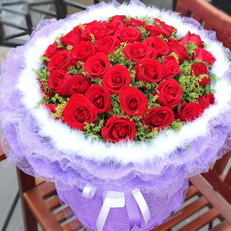 精选33枝红玫瑰/恒久挚爱