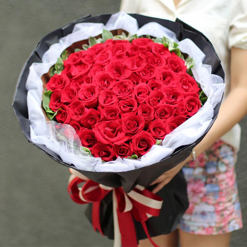 33朵极品红玫瑰/相恋久久