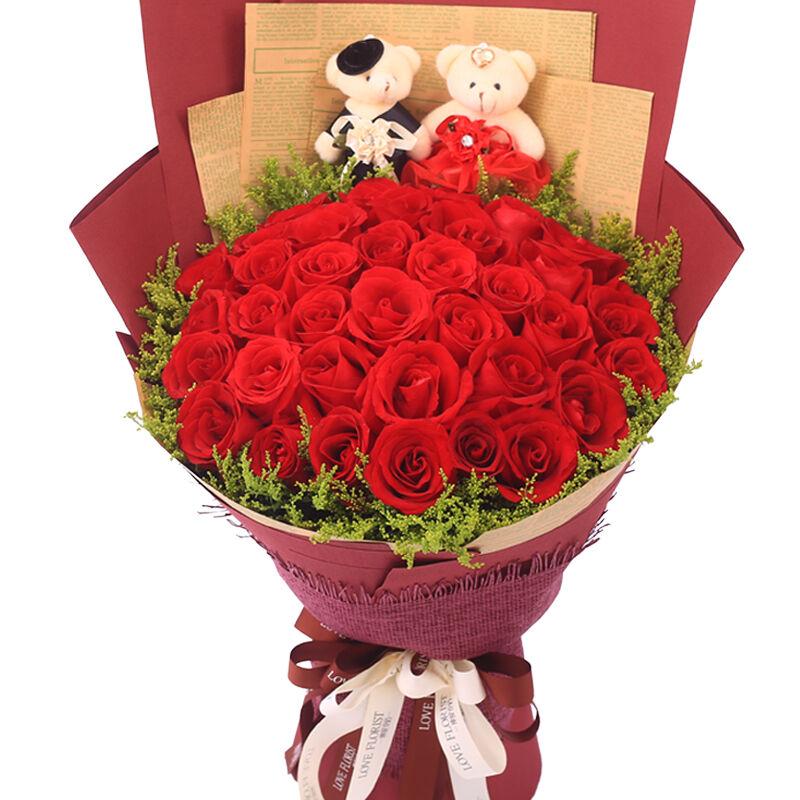 精选33朵红玫瑰/只对你有感觉