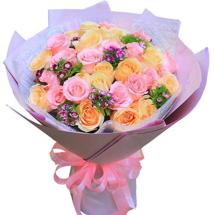 18朵顶级戴安娜玫瑰/粉暖人心