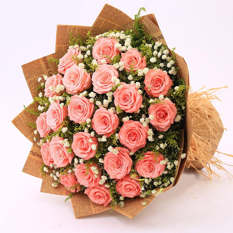 19枝顶级戴安娜玫瑰/唯一的戴安娜