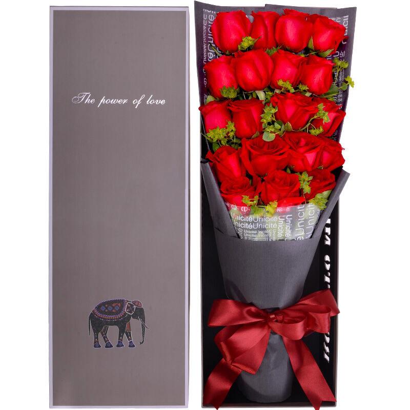 精选19朵红玫瑰/爱你始终如初
