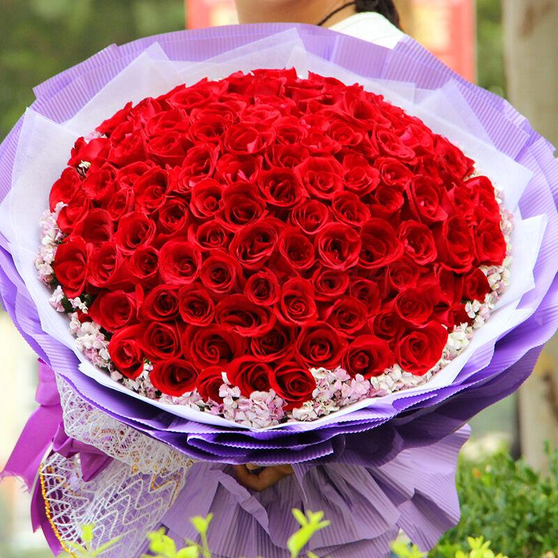 99朵精品红玫瑰/心有所动