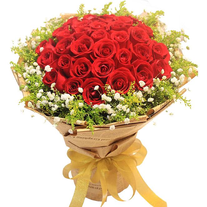 精选33枝红玫瑰/爱你无法自拔