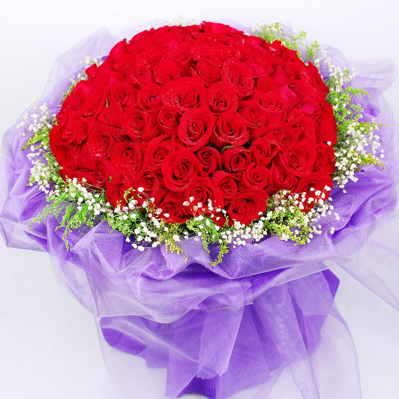 99朵极品红玫瑰/朵朵深情