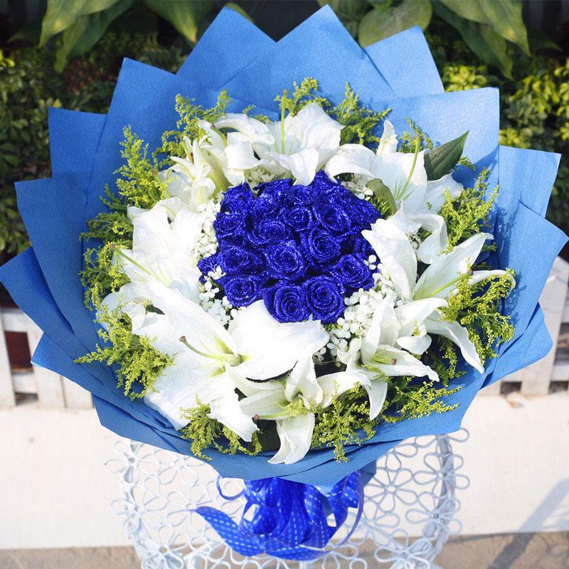 精选11朵极品蓝色妖姬/幸福的滋味