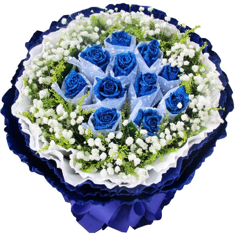 精选11朵极品蓝玫瑰/愈爱愈好