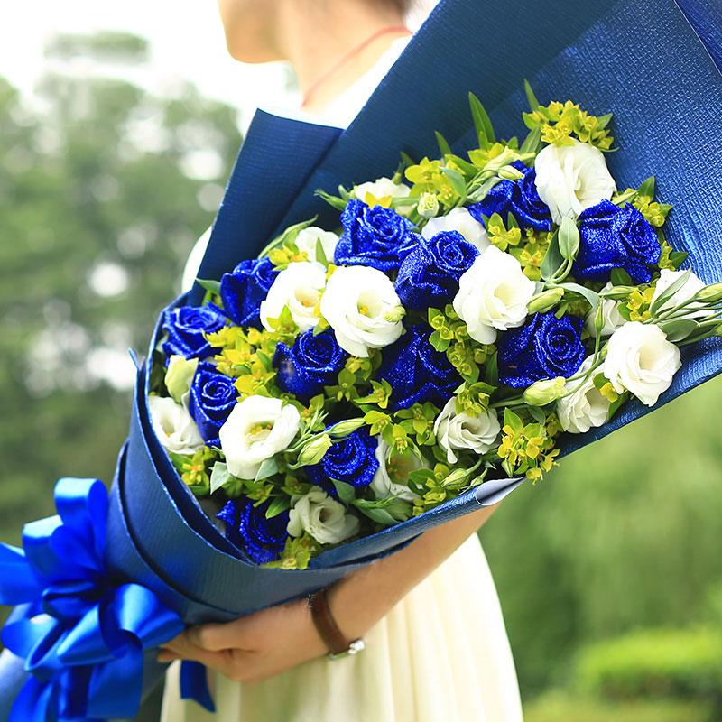 11朵极品蓝色妖姬/蓝色梦