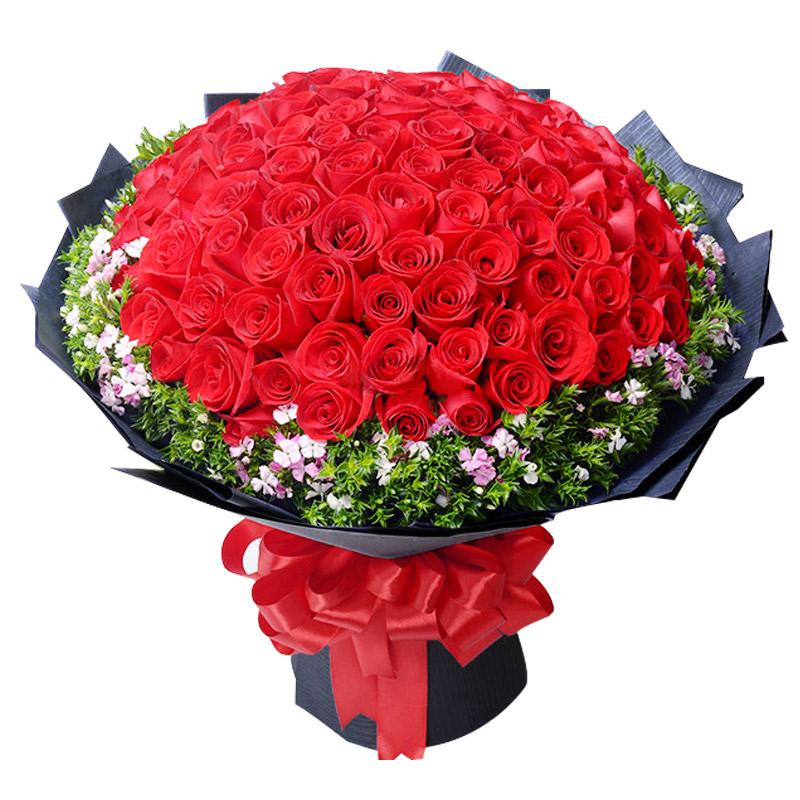 精选99朵优质红玫瑰/为你沦陷