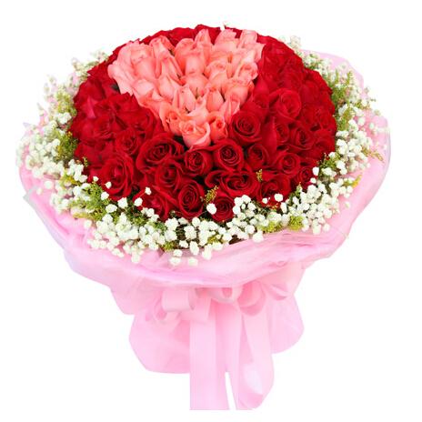 精心挑选66枝红玫瑰/用心爱你