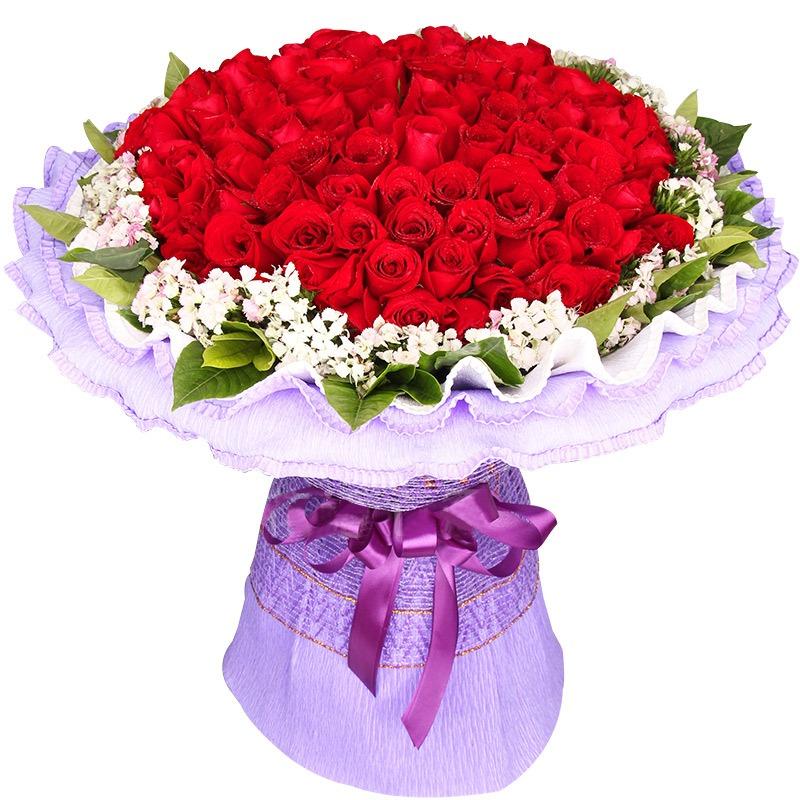 99朵极品昆明红玫瑰/爱到心醉