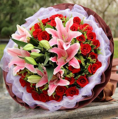 33朵精品红玫瑰/爱在身边