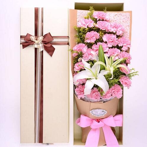 19朵粉色康乃馨/我们爱您