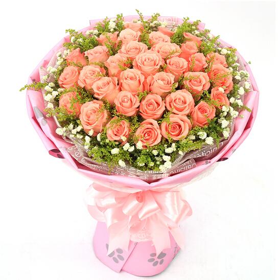 33朵粉玫瑰/不 离