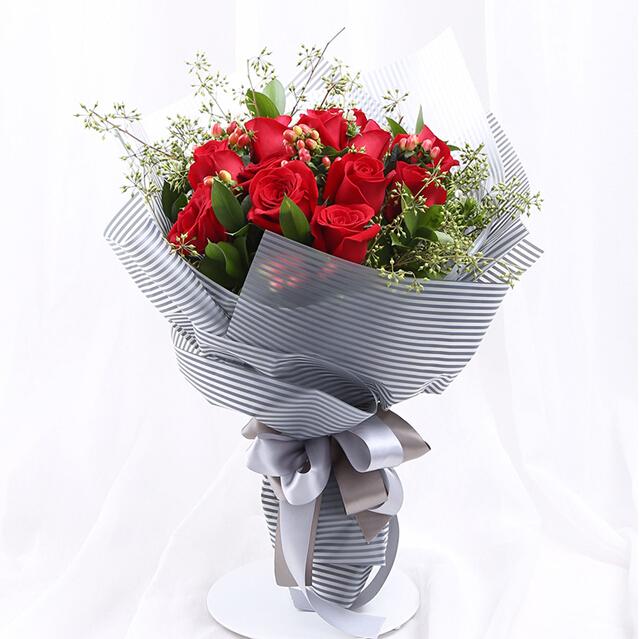 11枝精品红玫瑰/你最美