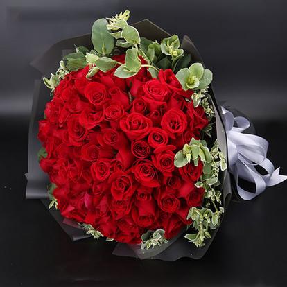 99支红色玫瑰/热情的爱