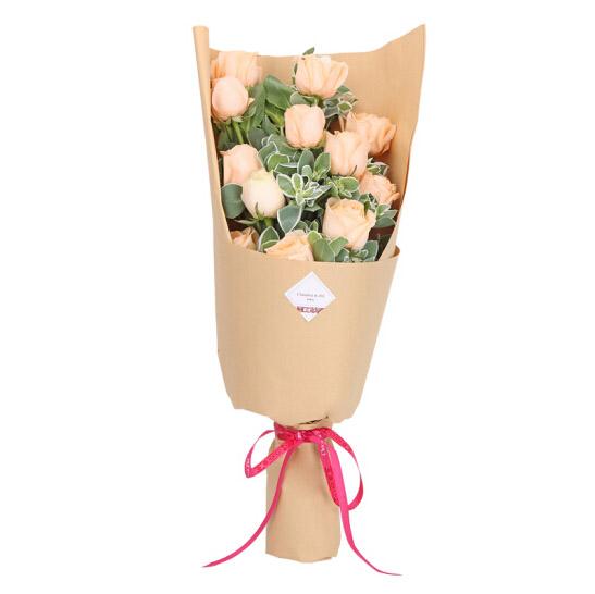 11支香槟玫瑰/只爱你