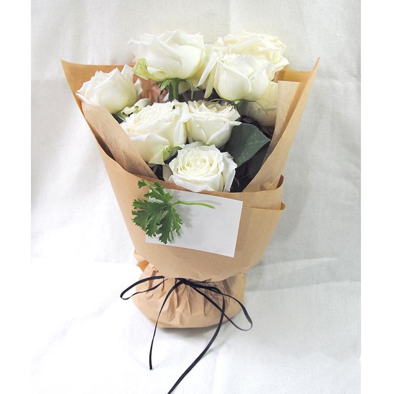 11支白玫瑰/遇上一个人