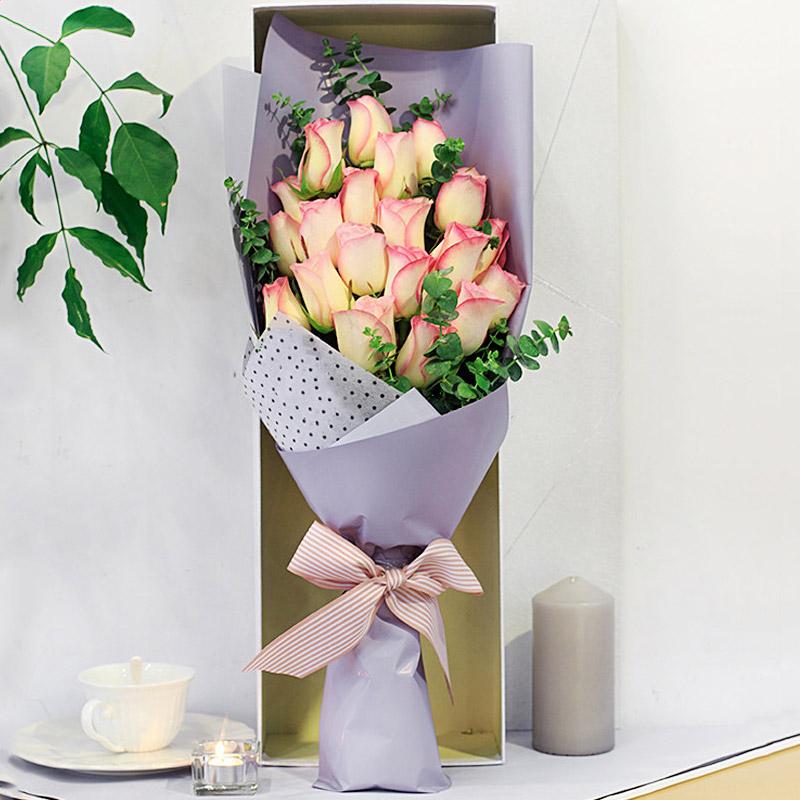 19朵粉边玫瑰/你的温柔