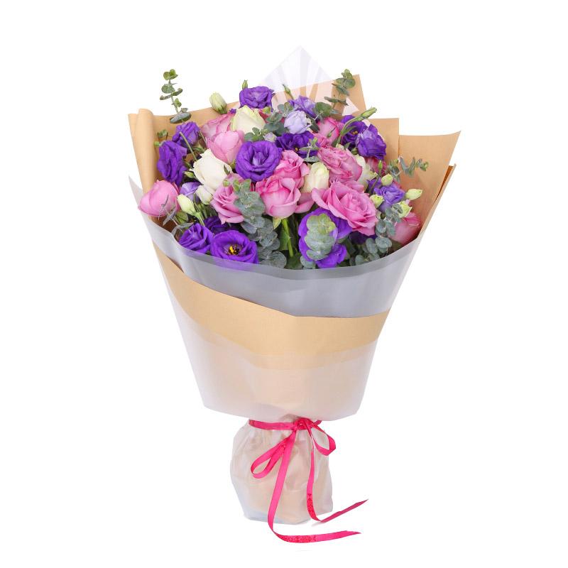 16朵紫玫瑰/真心真意