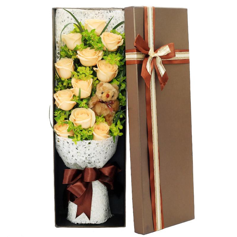 11朵香槟玫瑰/爱的抱抱