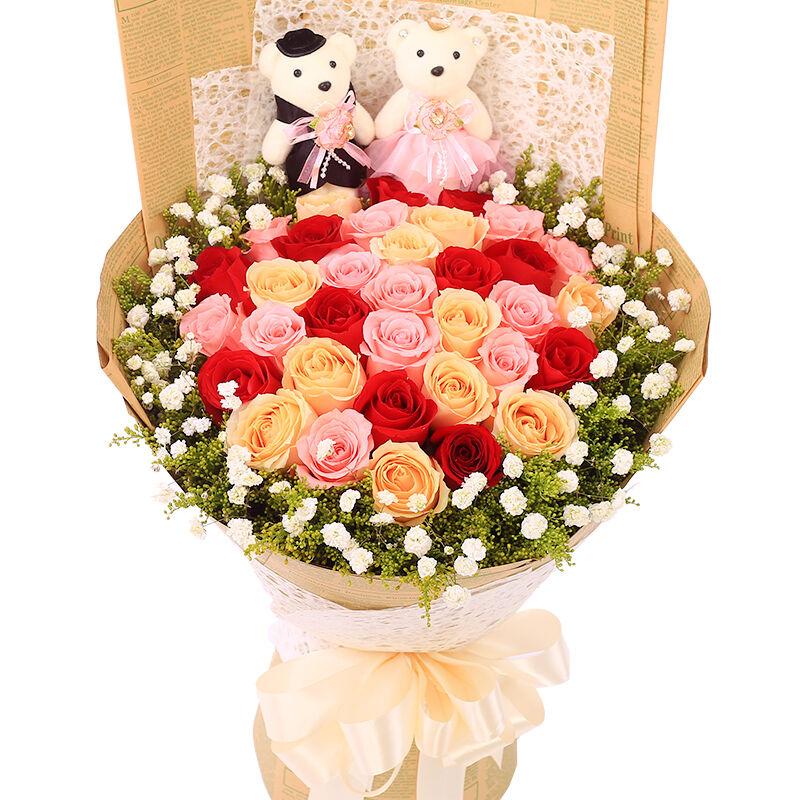 33朵玫瑰(11朵红玫/巴黎恋人
