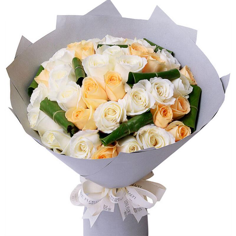 14朵白玫瑰/纯净美丽