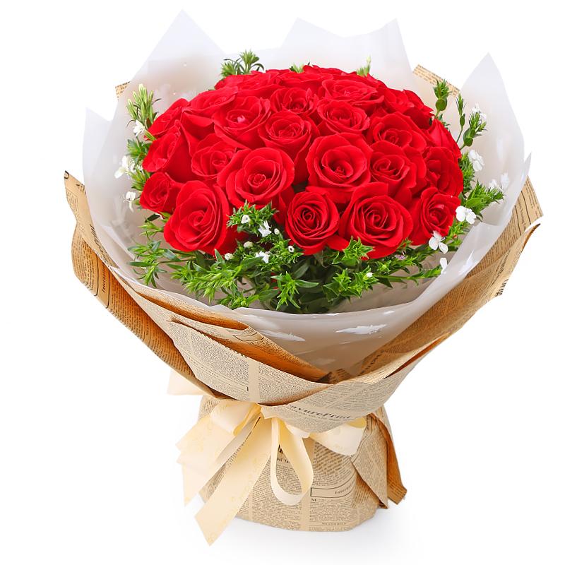 21朵顶级红玫瑰/长相思