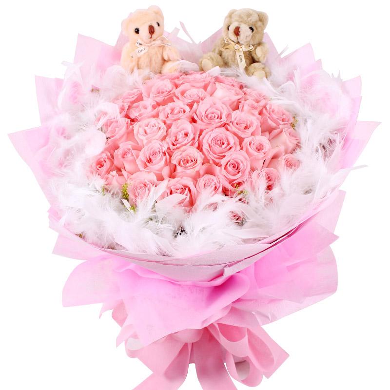 33枝戴安娜粉玫瑰/最爱你