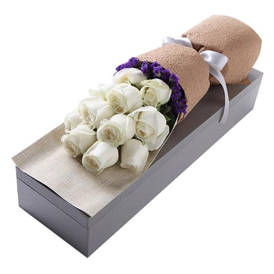 白玫瑰11枝/真爱如初