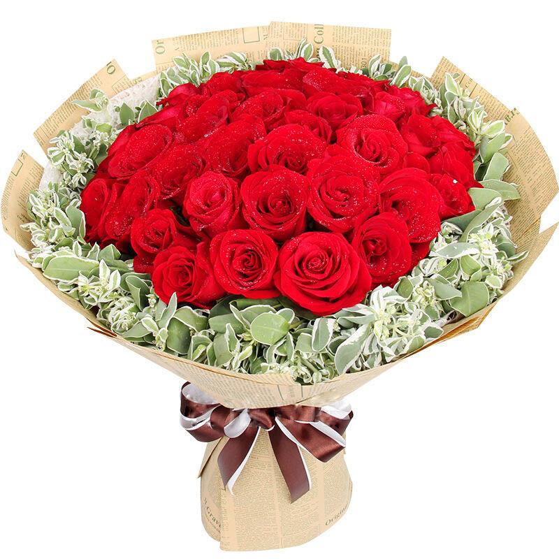 33朵精品红玫瑰/独特的爱
