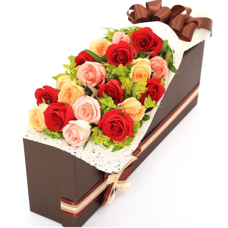 精选8朵红玫瑰/绵绵情谊