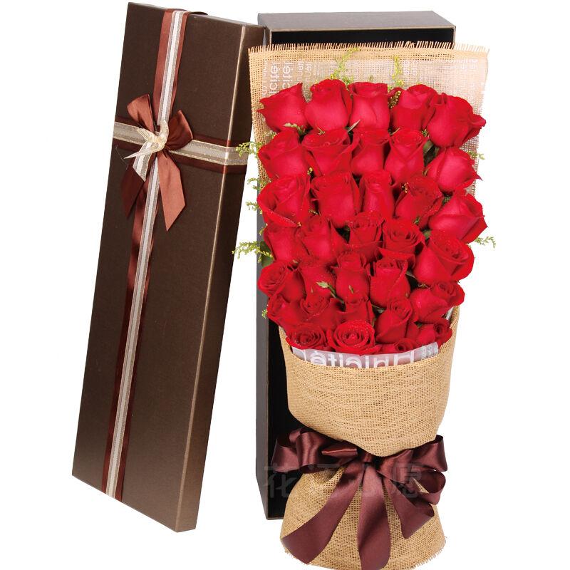 33朵精品红玫瑰/我俩的爱情