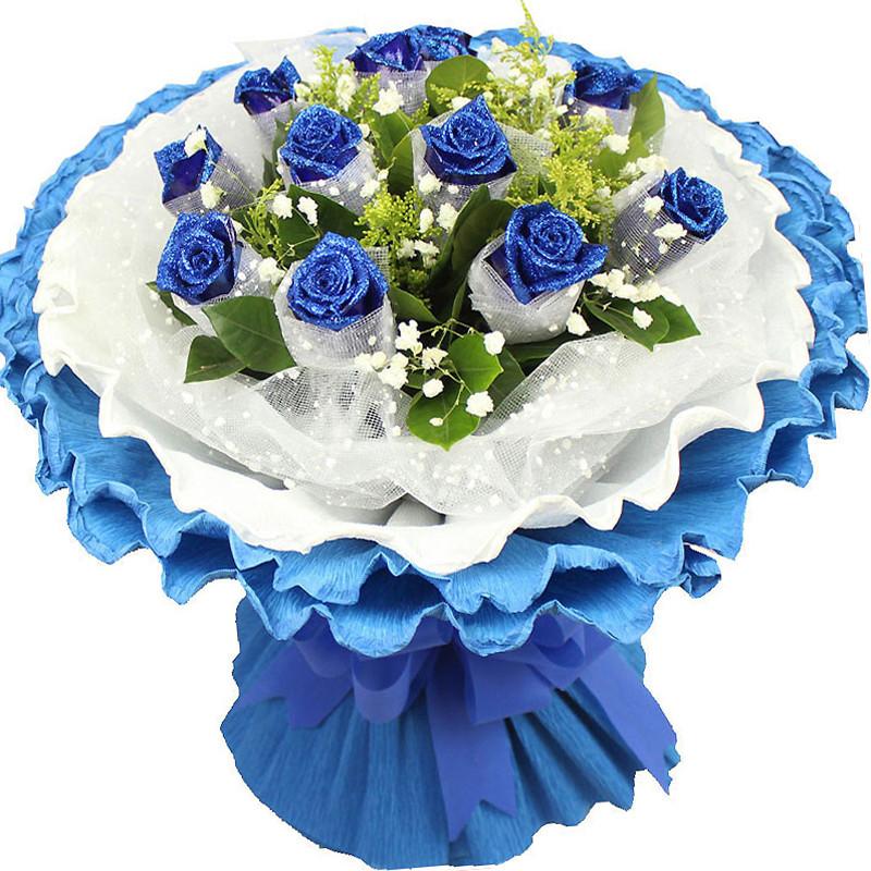 11支蓝玫瑰/爱你唯一