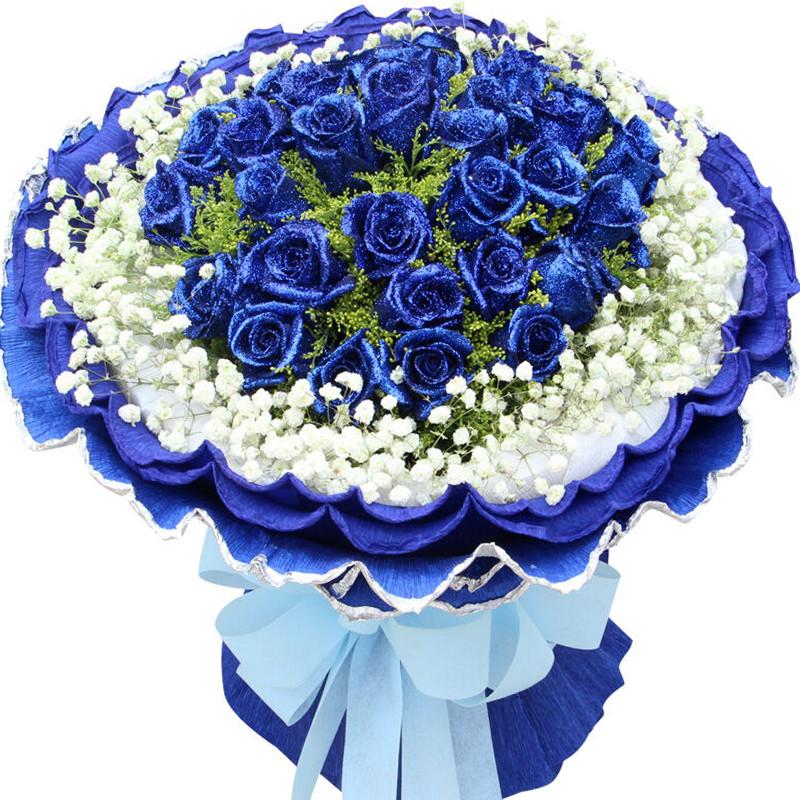 33枝蓝玫瑰/痴心一片