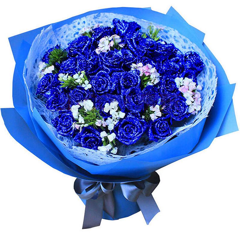 33朵精品蓝玫瑰/一往情深