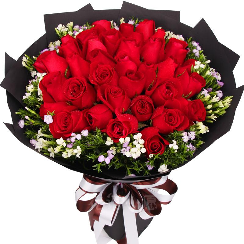 33支精品红玫瑰/久久伴你